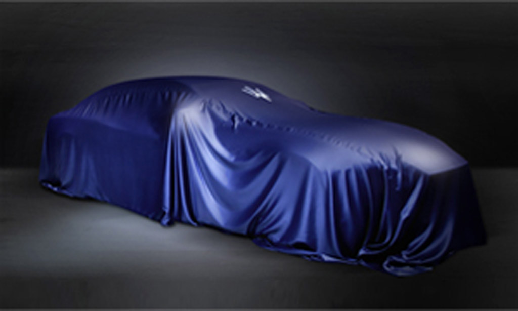 Teaser for new Maserati set to debut at the 2013 Shanghai Auto Show