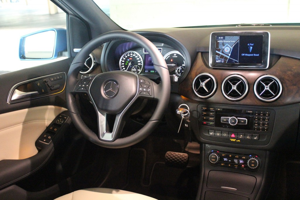 2014 mercedes benz b class electric car 87 miles range. Black Bedroom Furniture Sets. Home Design Ideas