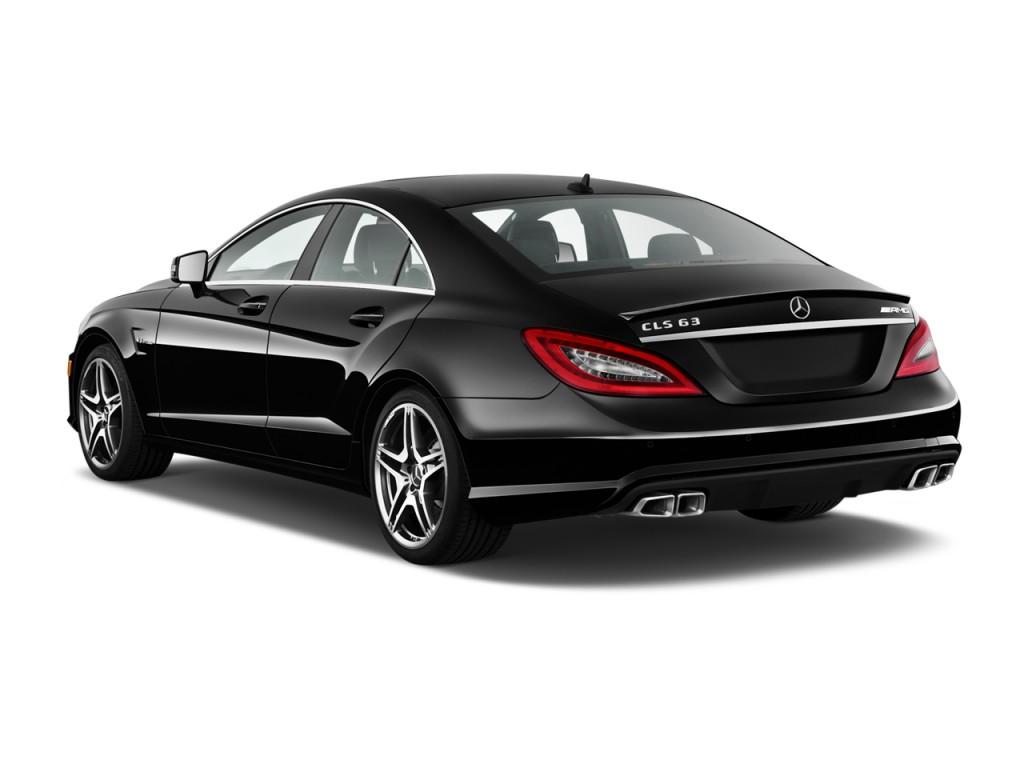 image 2014 mercedes benz cls class 4 door sedan cls63 amg 4matic angular rear exterior view. Black Bedroom Furniture Sets. Home Design Ideas