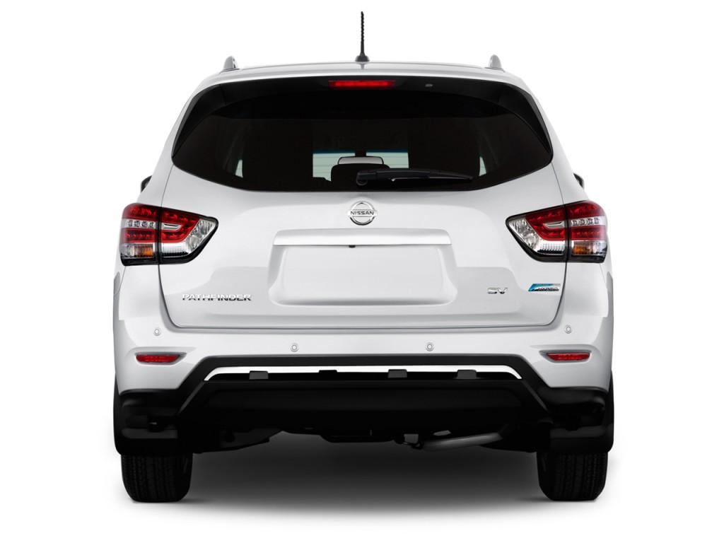 Image 2014 nissan pathfinder 4wd 4 door sl hybrid rear for Exterior rear house doors