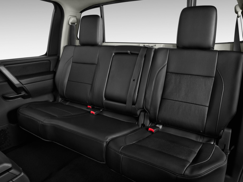 image 2014 nissan titan 2wd crew cab swb sl rear seats size 1024 x 768 type gif posted on. Black Bedroom Furniture Sets. Home Design Ideas