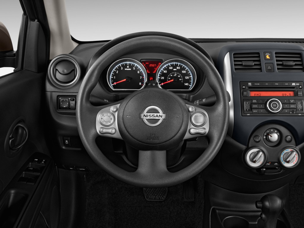 image 2014 nissan versa 4 door sedan cvt 1 6 sv steering wheel size 1024 x 768 type gif. Black Bedroom Furniture Sets. Home Design Ideas