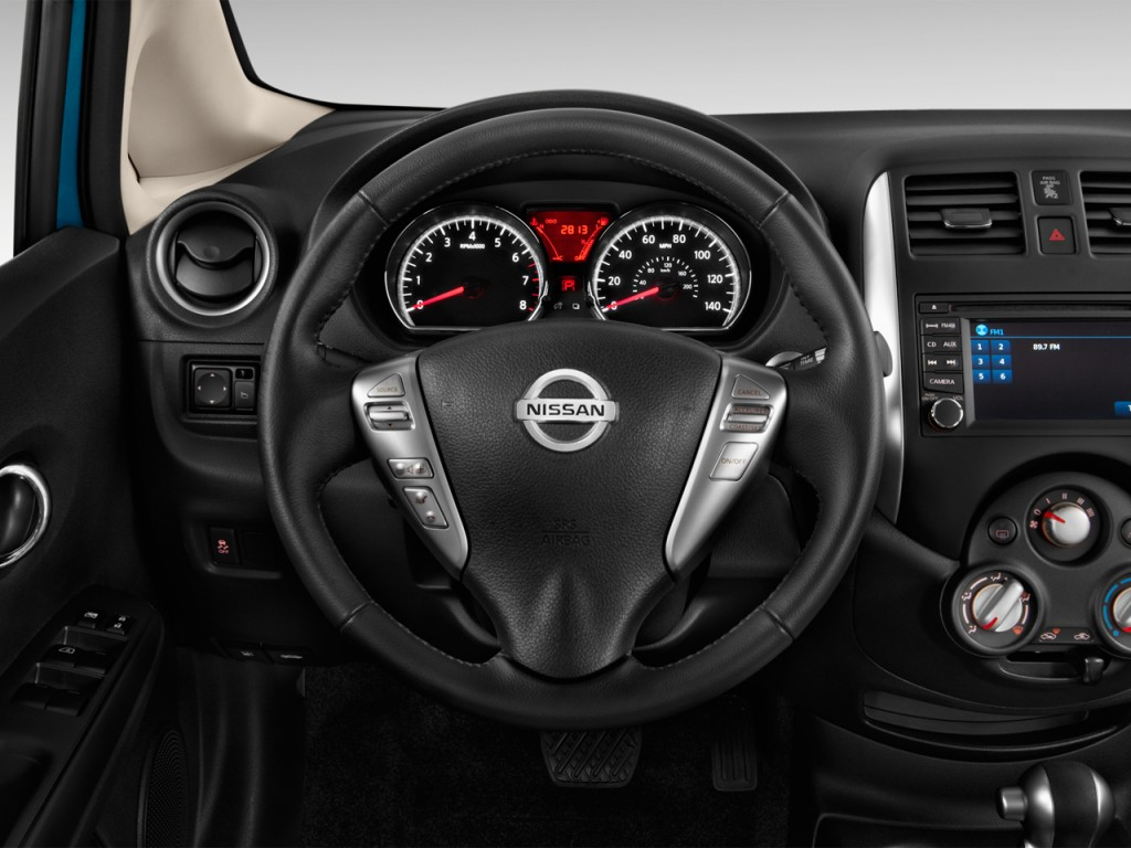 image 2014 nissan versa note 5dr hb cvt 1 6 s plus steering wheel size 1024 x 768 type gif. Black Bedroom Furniture Sets. Home Design Ideas