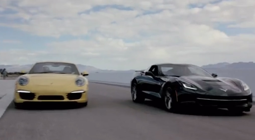 Chris Harris Pits The Corvette Stingray Against The Porsche 911: Video