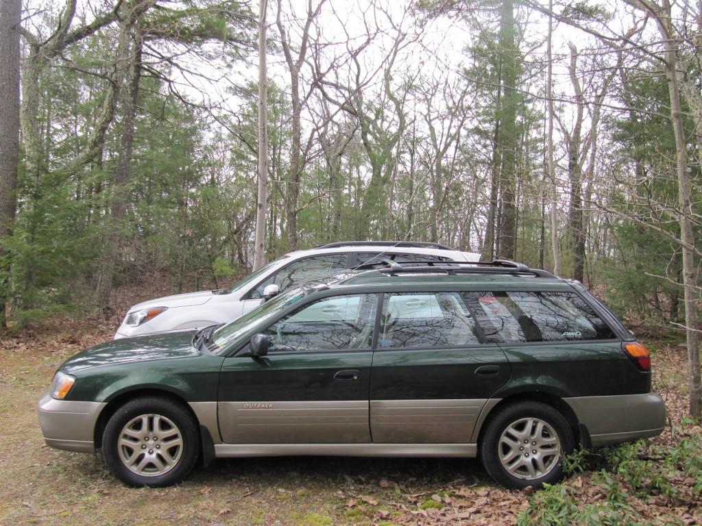 2014 Subaru Forester 2.0XT with 2000 Subaru Outback, Catskill Mountains, NY, May 2014