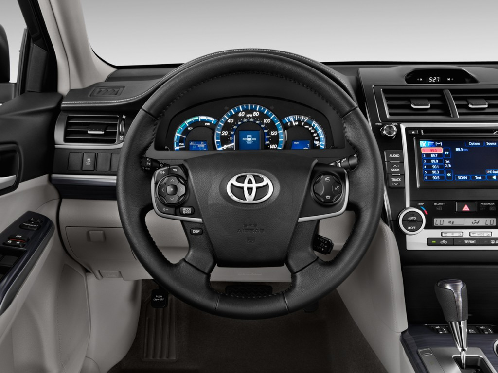 image 2014 toyota camry hybrid 4 door sedan xle natl steering wheel size 1024 x 768 type. Black Bedroom Furniture Sets. Home Design Ideas