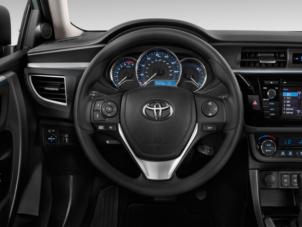 image 2014 toyota corolla 4 door sedan cvt le eco natl steering wheel size 1024 x 768 type. Black Bedroom Furniture Sets. Home Design Ideas