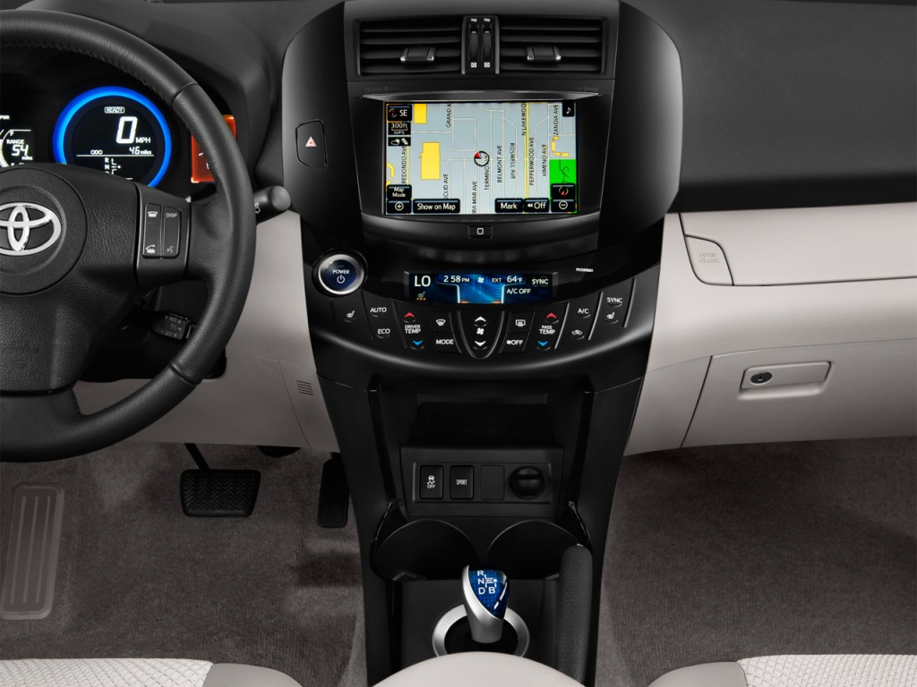 Image: 2014 Toyota RAV4 EV FWD 4-door Instrument Panel ...