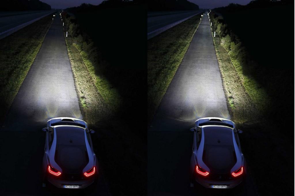 2015 BMW i8 laser headlights