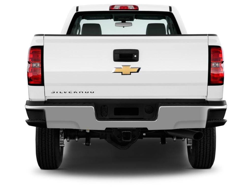 image 2015 chevrolet silverado 2500hd 2wd reg cab 133 6 work truck rear exterior view size. Black Bedroom Furniture Sets. Home Design Ideas