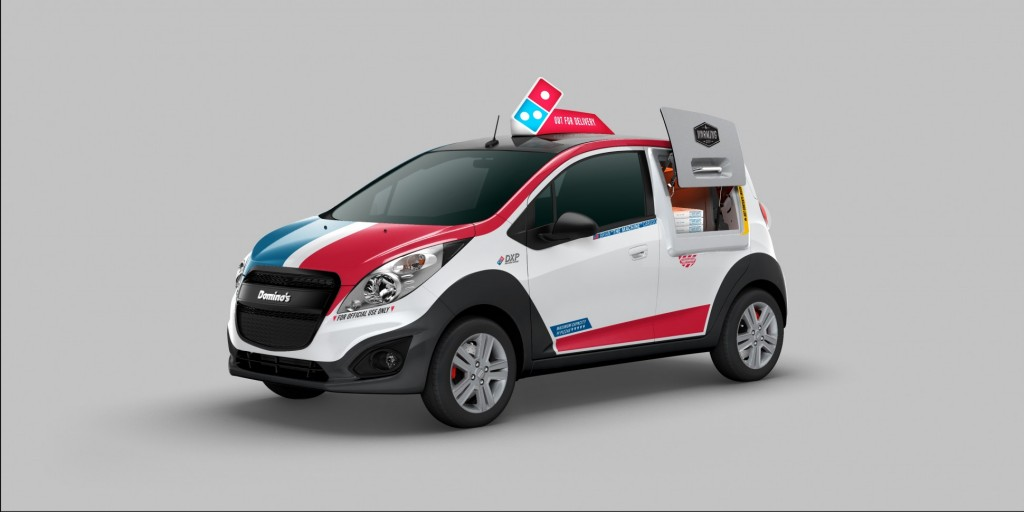 2015 Chevrolet Spark Domino's DXP pizza delivery vehicle