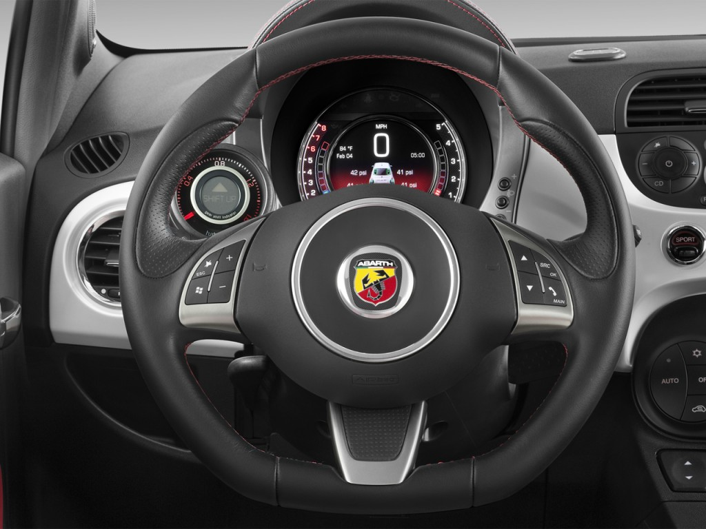Image: 2015 FIAT 500 2-door HB Abarth Steering Wheel, size: 1024 x