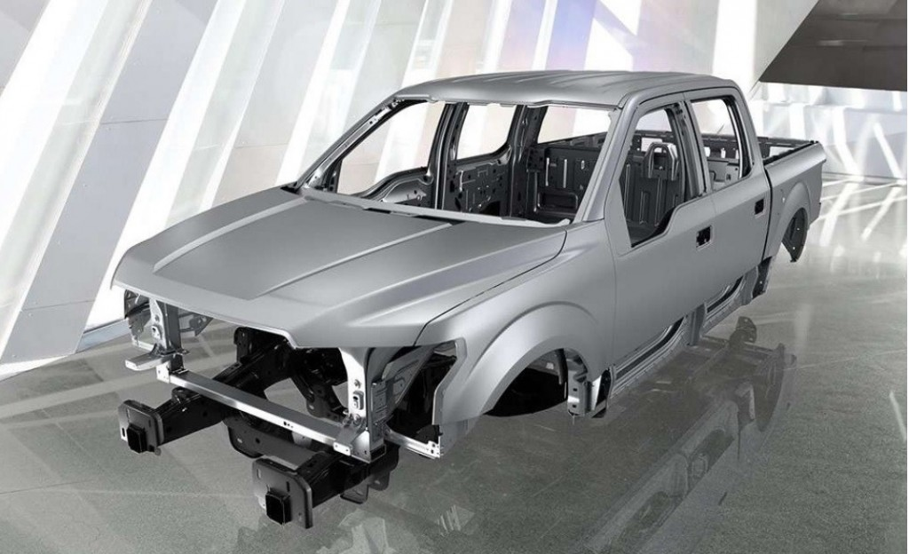 2015 Ford F-150 aluminum body shell