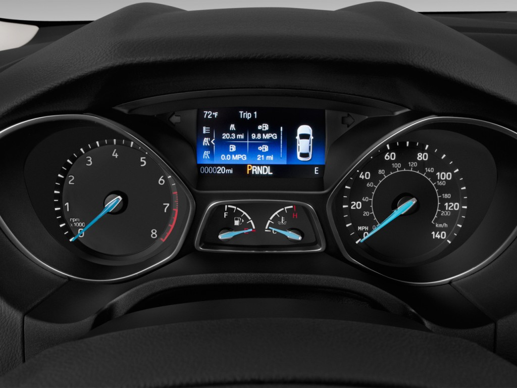 2016 Ford Fusion Hybrid Se >> Image: 2015 Ford Focus 4-door Sedan SE Instrument Cluster, size: 1024 x 768, type: gif, posted ...