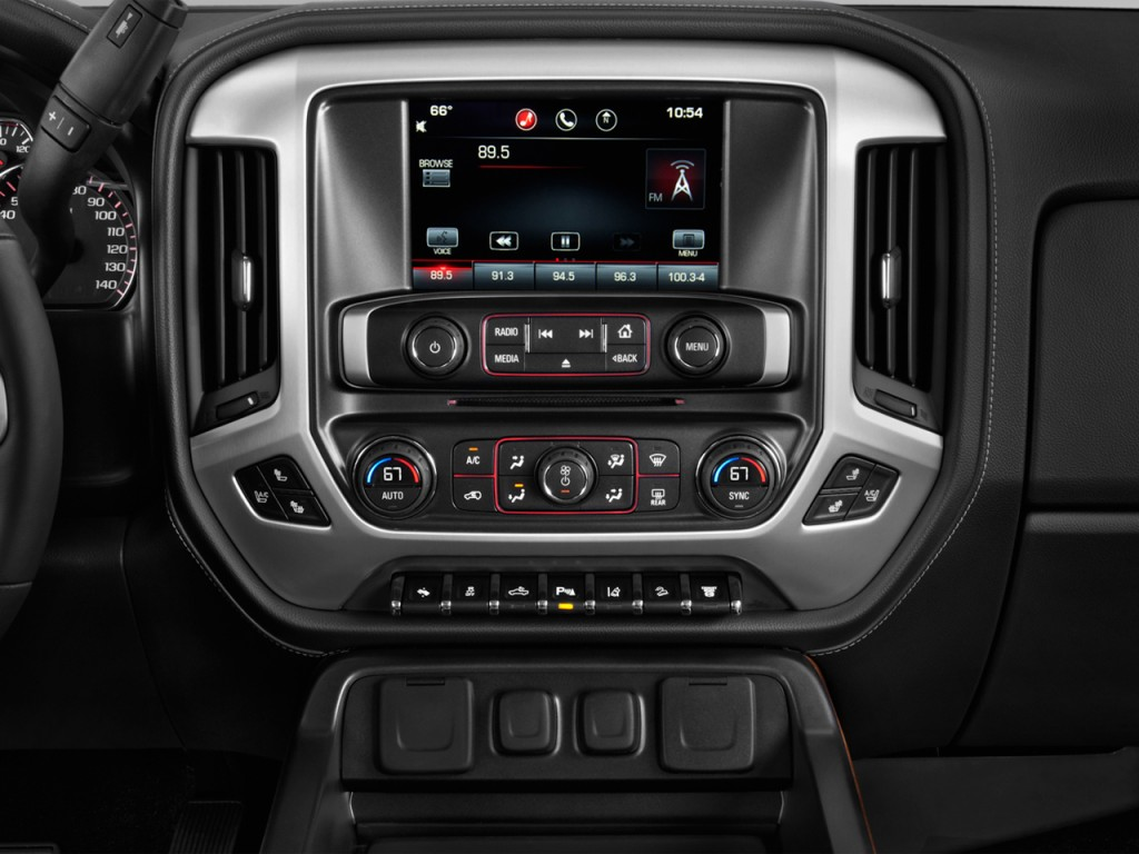"Image: 2015 GMC Sierra 2500HD 2WD Crew Cab 153.7"" SLE Instrument Panel, size: 1024 x 768, type ..."