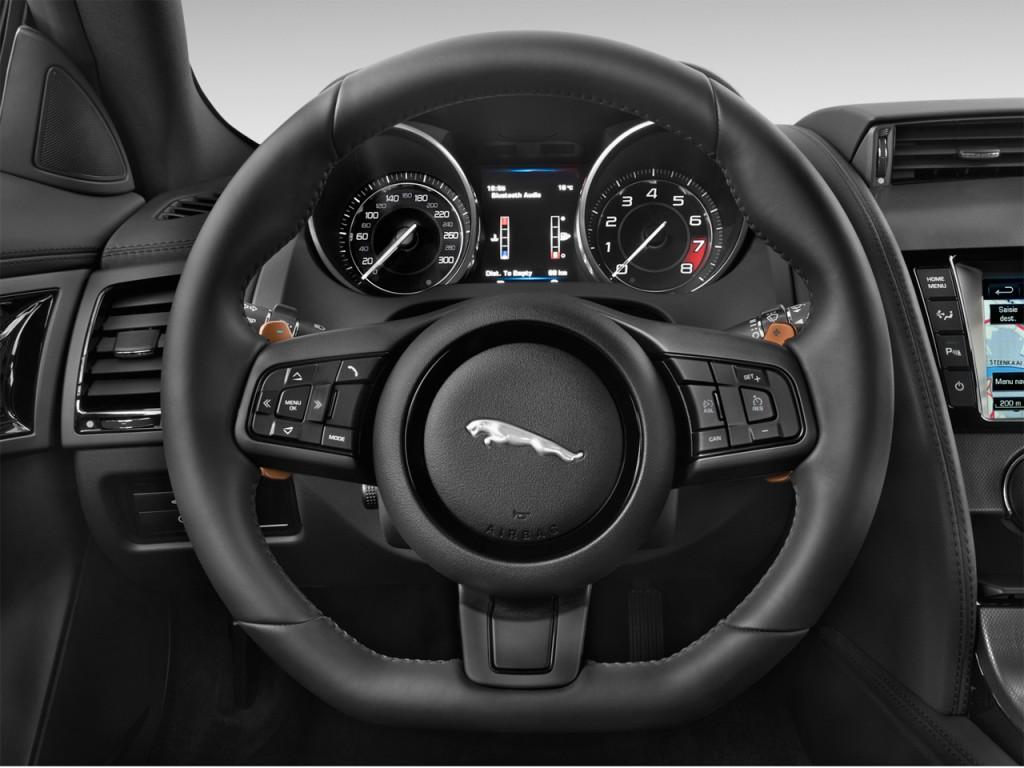 image 2015 jaguar f type 2 door coupe v6 s steering wheel. Black Bedroom Furniture Sets. Home Design Ideas