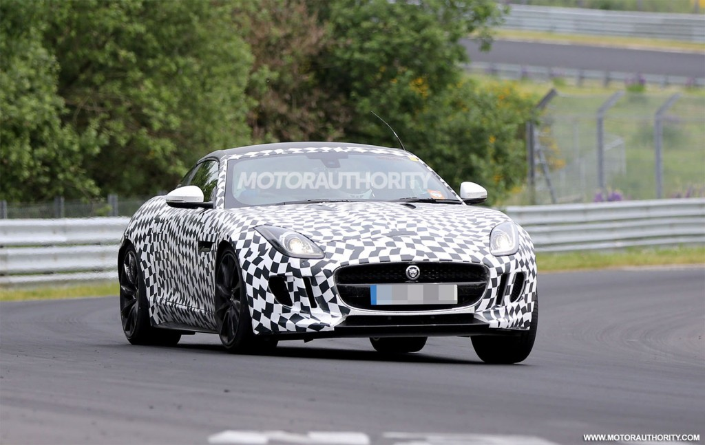 2015 Jaguar F Type Coupe Spy Shots