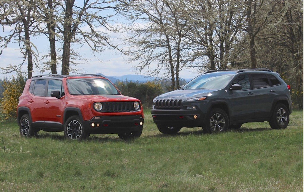 image 2015 jeep renegade and 2015 jeep cherokee size. Black Bedroom Furniture Sets. Home Design Ideas