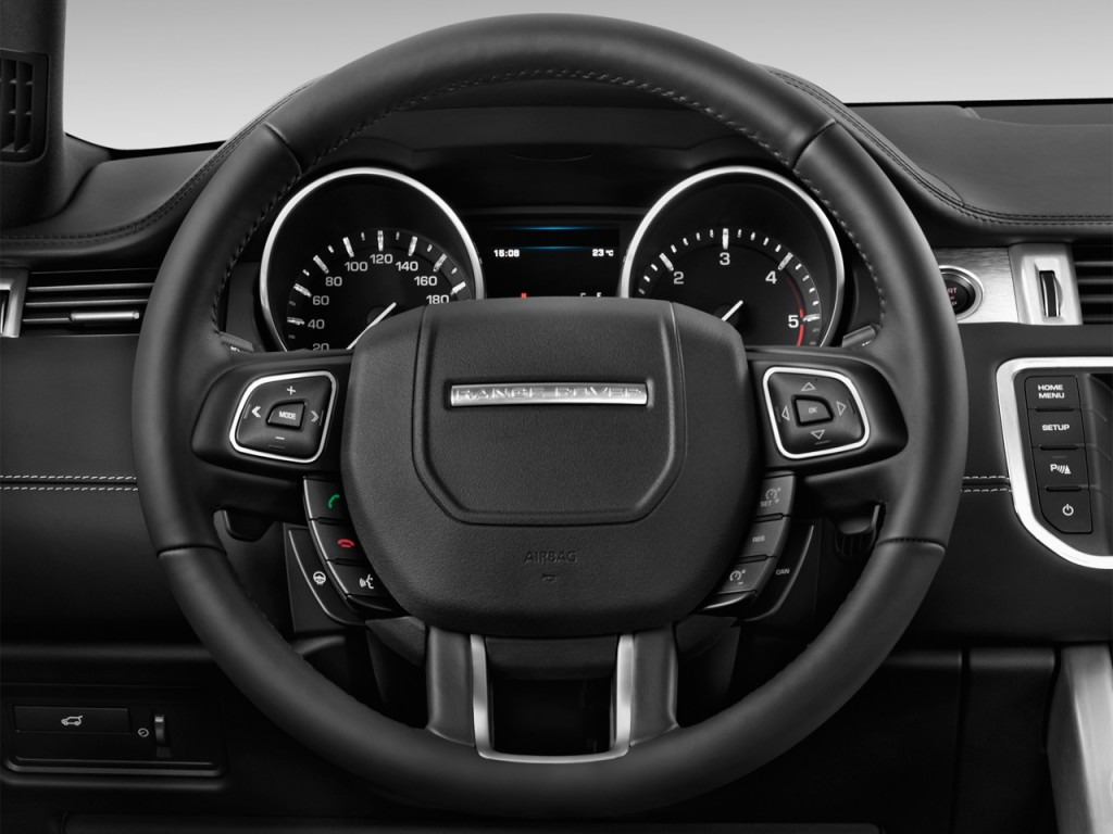 image 2015 land rover range rover evoque 2 door coupe pure plus steering wheel size 1024 x. Black Bedroom Furniture Sets. Home Design Ideas