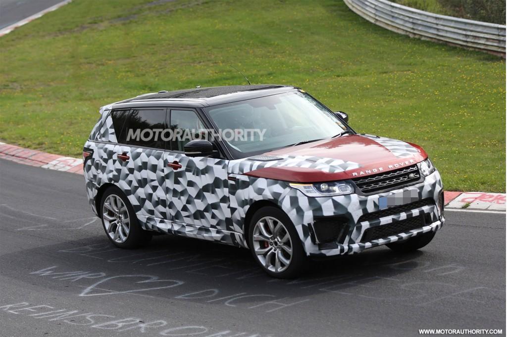 2015 Land Rover Range Rover Sport SVR spy shots