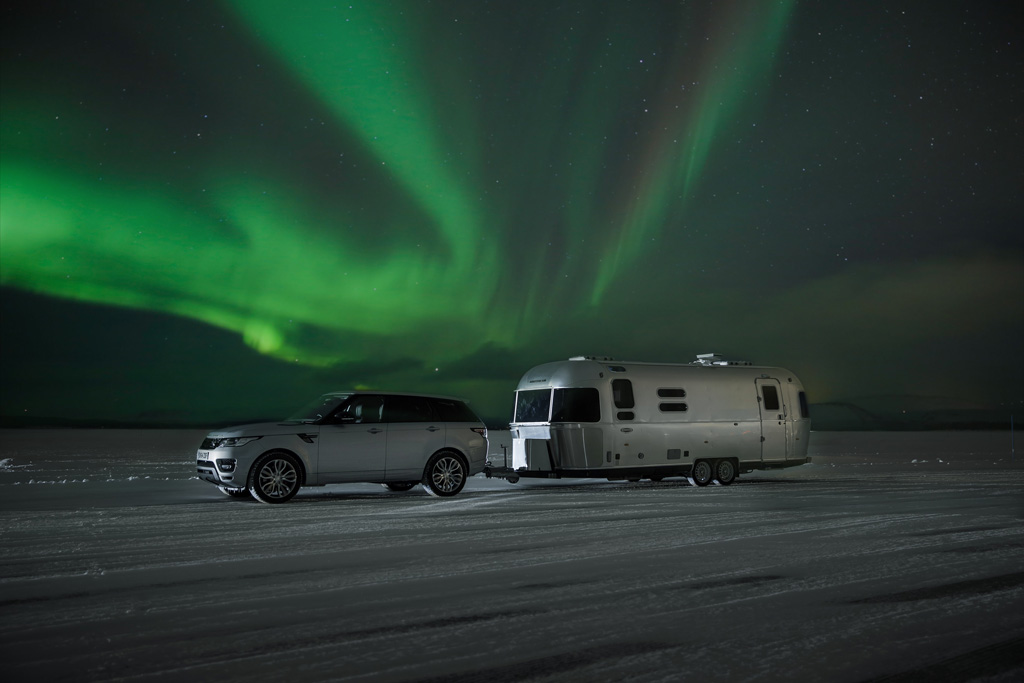 Range Rover Sport Hybrid Tows Airstream On Arctic Adventure