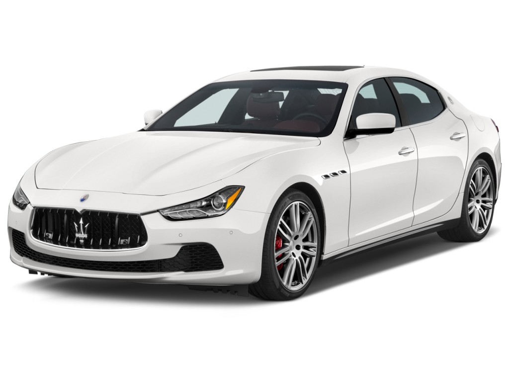 Image: 2015 Maserati Ghibli 4-door Sedan Angular Front Exterior View