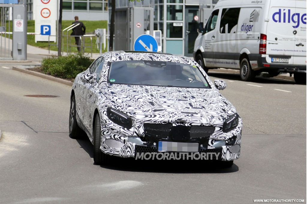 2015 Mercedes-Benz S Class Coupe spy shots