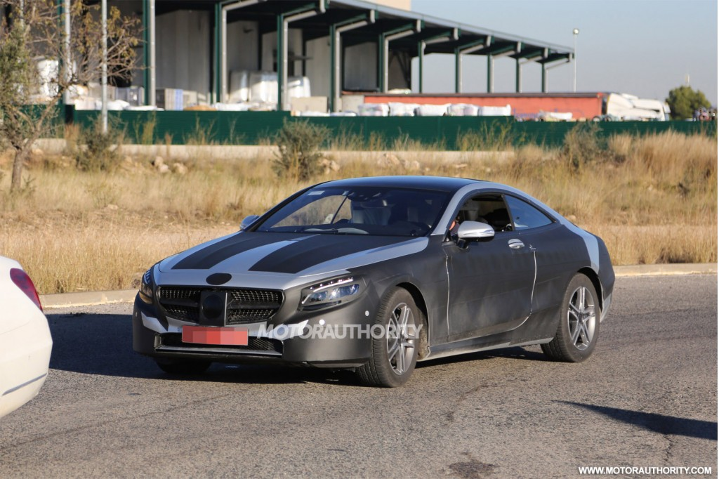 2015 Mercedes-Benz S-Class Coupe spy shots