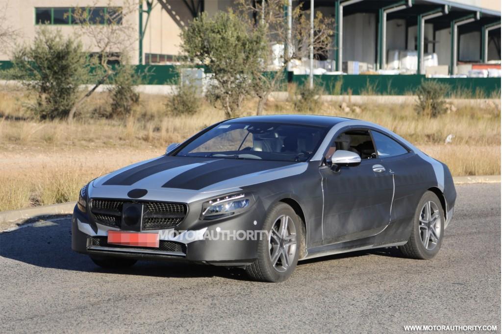 2015 Mercedes-Benz S-Class Coupe spy shots