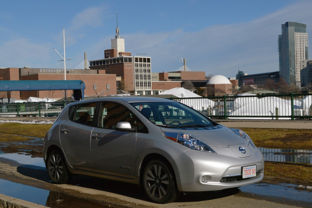 2015 Nissan Leaf at Museum of Science, Boston [photo: John Briggs]