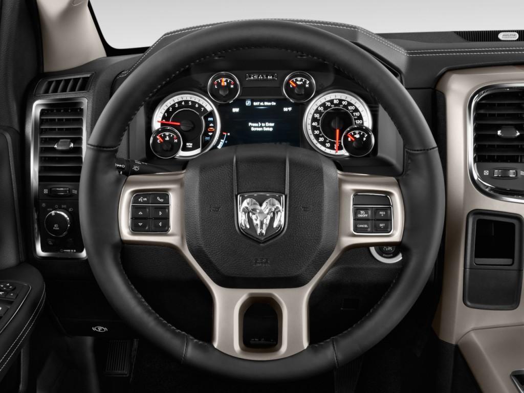 "Image: 2015 Ram 1500 2WD Quad Cab 140.5"" Laramie Steering Wheel, size: 1024 x 768, type: gif ..."