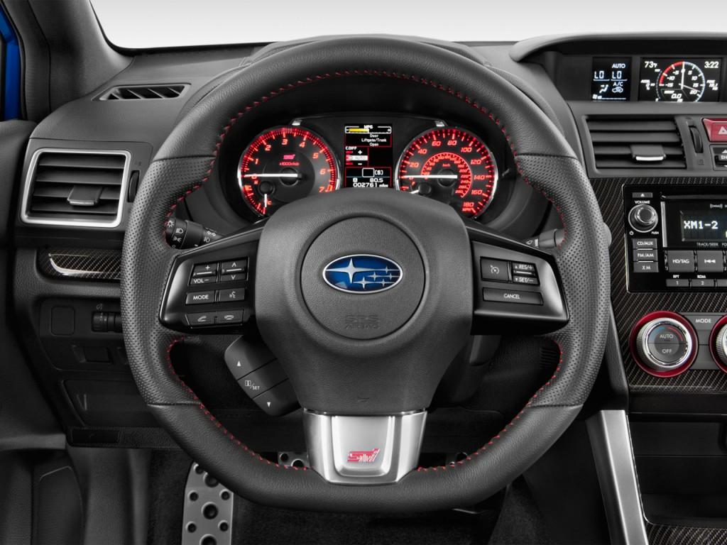 image 2015 subaru wrx sti 4 door sedan steering wheel. Black Bedroom Furniture Sets. Home Design Ideas