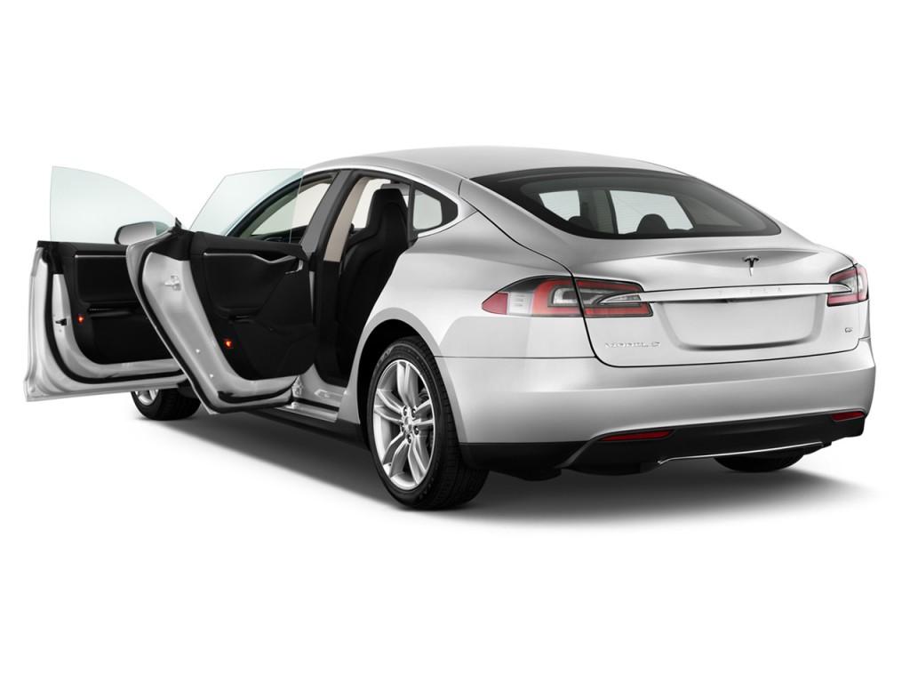 Image: 2015 Tesla Model S 4-door Sedan AWD 85D Open Doors ...