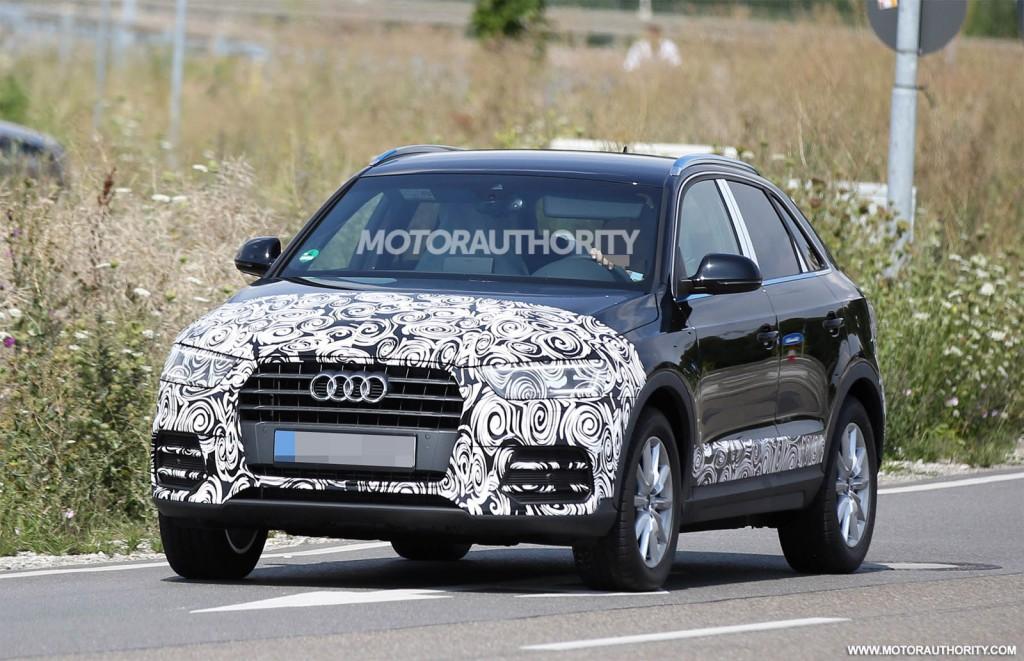 2016 Audi Q3 facelift spy shots