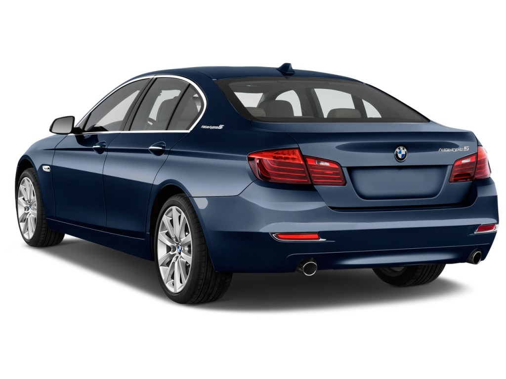 Image 2016 Bmw 5 Series 4 Door Sedan Activehybrid 5 Rwd Angular Rear Exterior View Size 1024