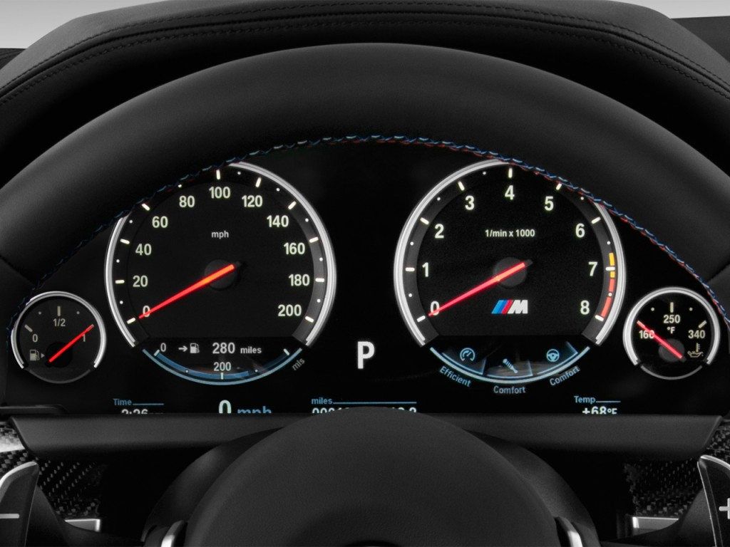 Image: 2016 BMW M6 2-door Coupe Instrument Cluster, size ...