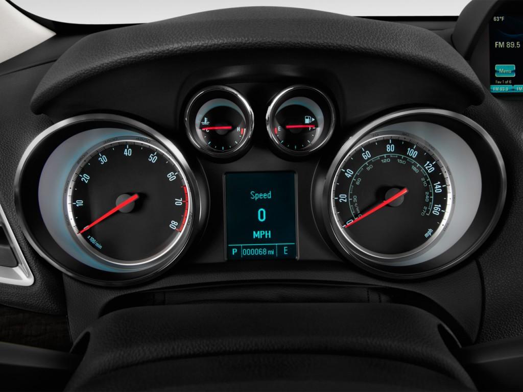 Image: 2016 Buick Encore FWD 4-door Sport Touring Instrument Cluster, size: 1024 x 768, type ...
