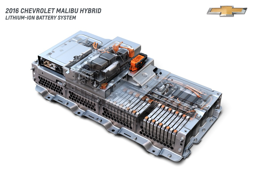 Image: 2016 Chevrolet Malibu Hybrid - battery cutaway ...