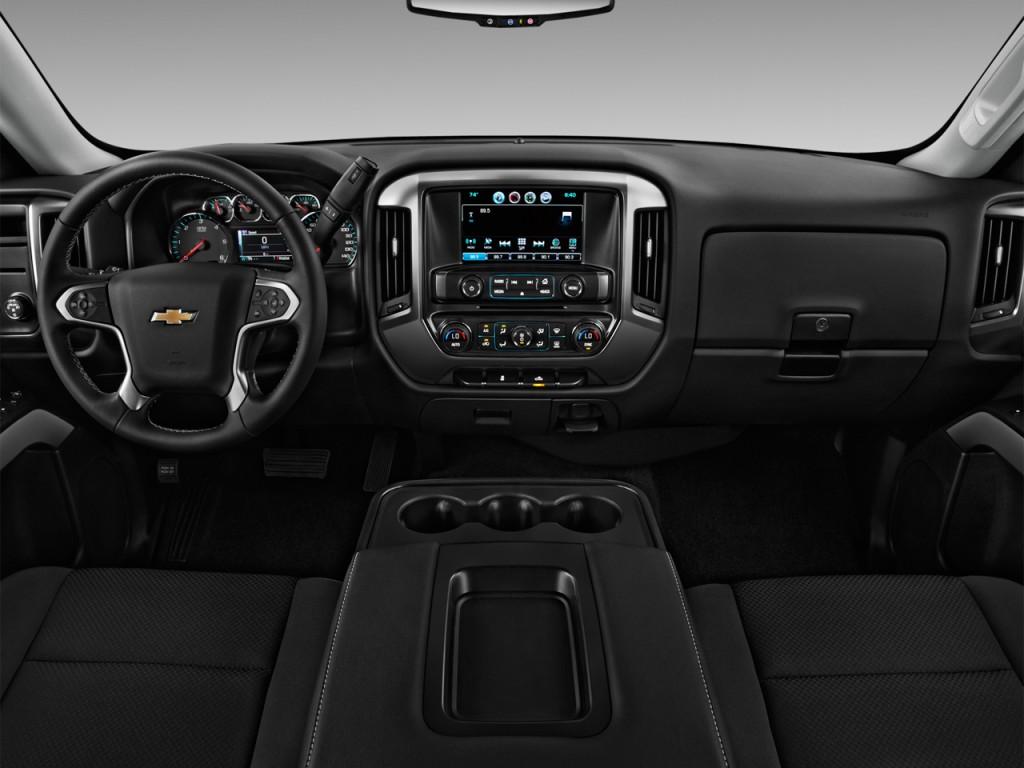 "Image: 2016 Chevrolet Silverado 1500 2WD Double Cab 143.5"" LT w/1LT Dashboard, size: 1024 x 768 ..."