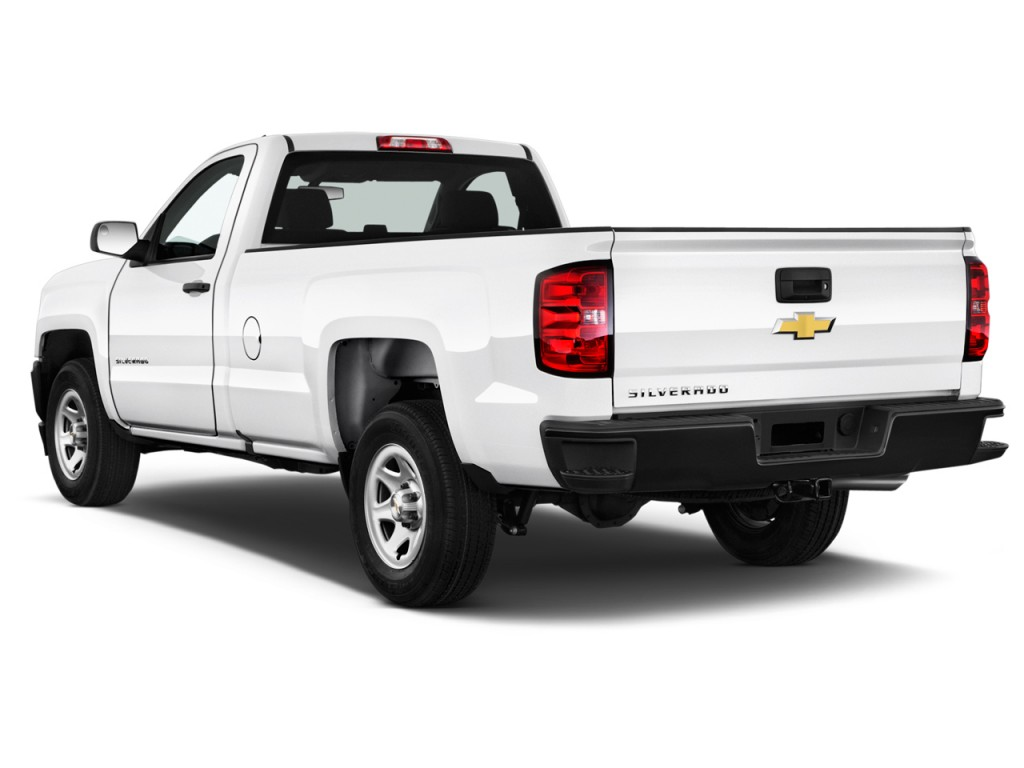 image 2016 chevrolet silverado 1500 2wd reg cab 133 0 work truck angular rear exterior view. Black Bedroom Furniture Sets. Home Design Ideas