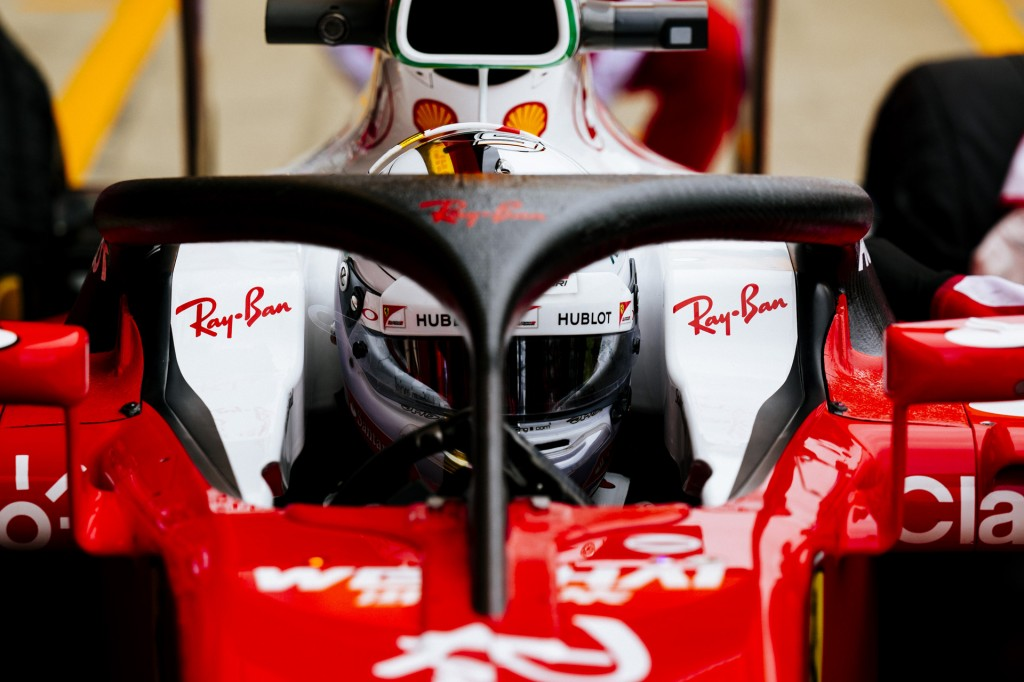 2016 Ferrari Formula One car equipped with Halo cockpit protection