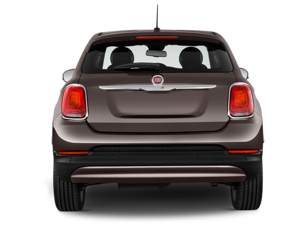 Image 2016 fiat 500x fwd 4 door lounge rear exterior view for Fiat 500x exterior