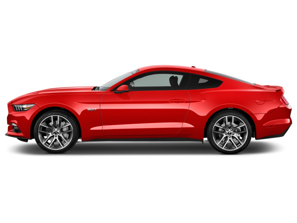Used 2015 Mustang Gt >> Image: 2016 Ford Mustang 2-door Fastback GT Premium Side Exterior View, size: 1024 x 768, type ...