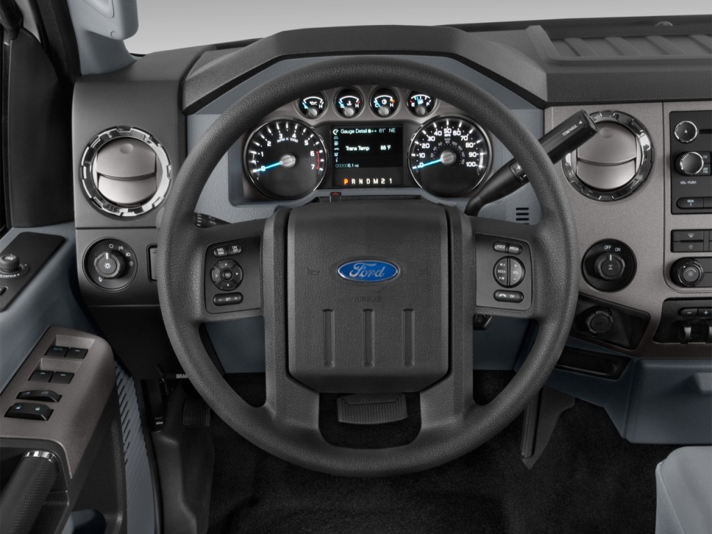 "Image: 2016 Ford Super Duty F-250 SRW 2WD Crew Cab 156"" XLT Steering Wheel, size: 1024 x 768 ..."