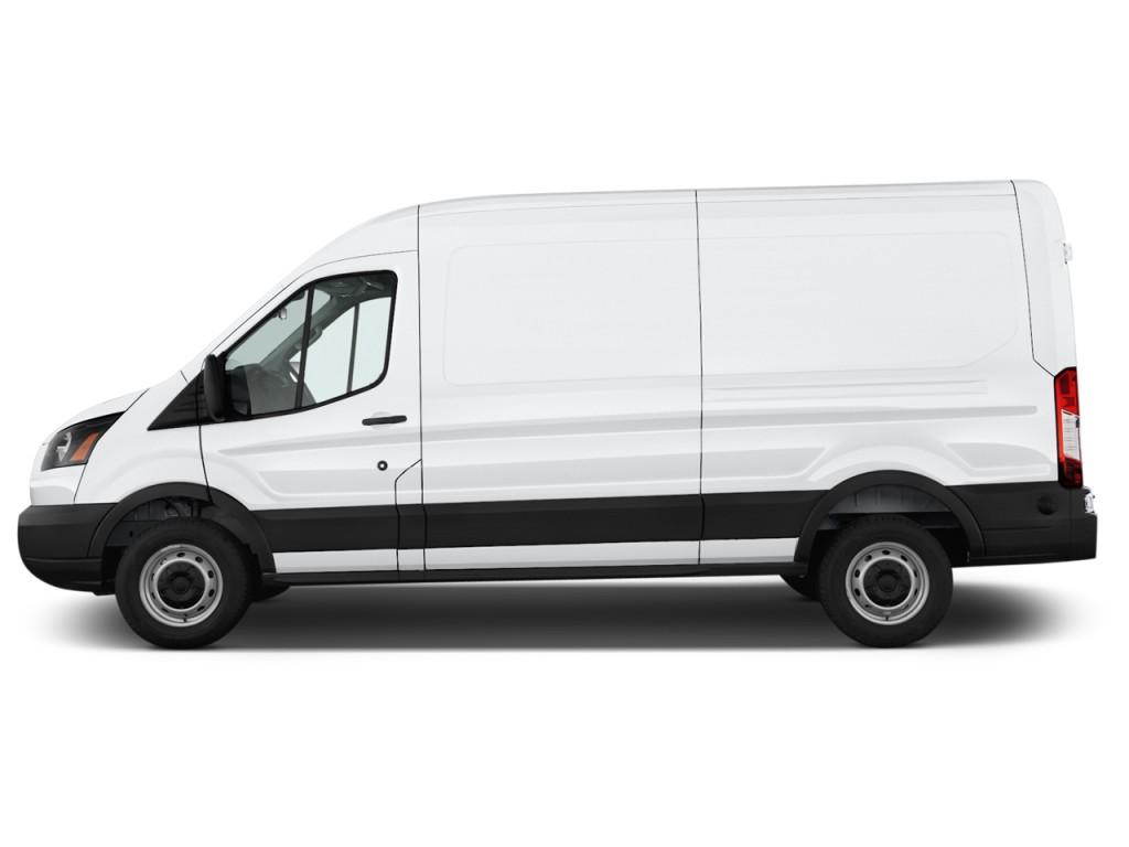 "Cargo Van Suzuki >> Image: 2016 Ford Transit Cargo Van T-250 148"" Med Rf 9000 GVWR Sliding RH Dr Side Exterior View ..."