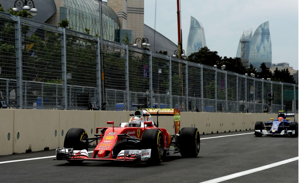 2016 Formula One European Grand Prix practice session at Baku City Circuit