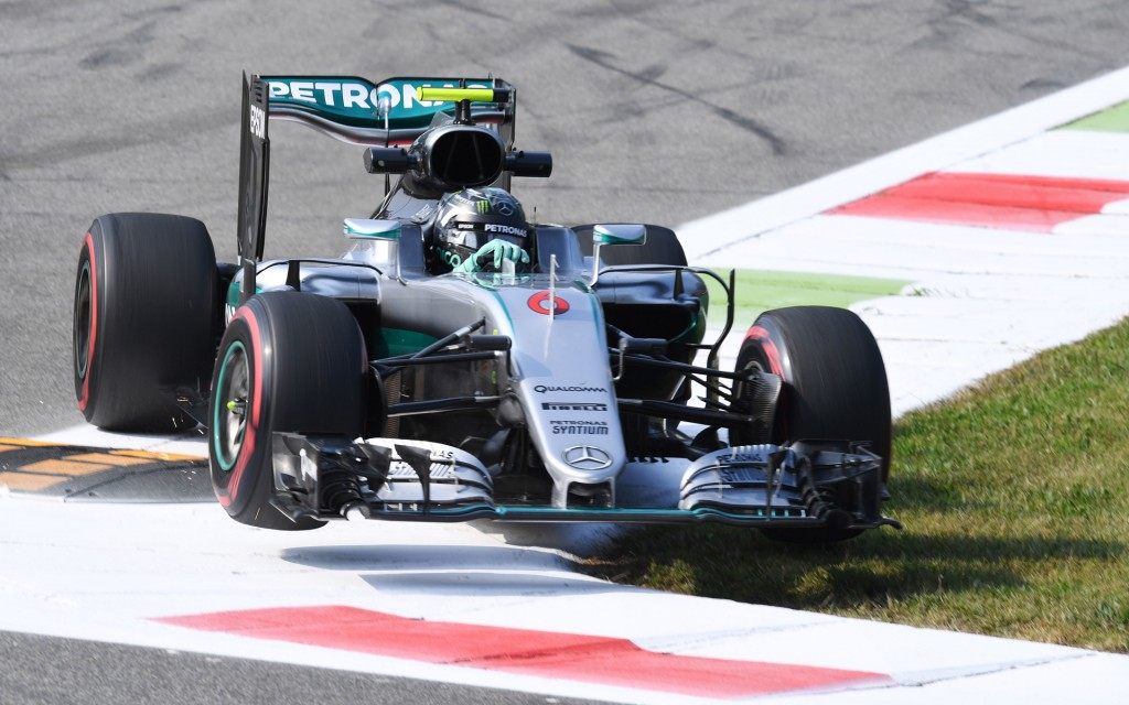 Mercedes AMG's Nico Rosberg at the 2016 Formula One Italian Grand Prix