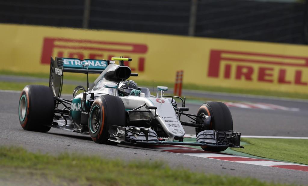 Mercedes AMG's Nico Rosberg at the 2016 Formula One Japanese Grand Prix
