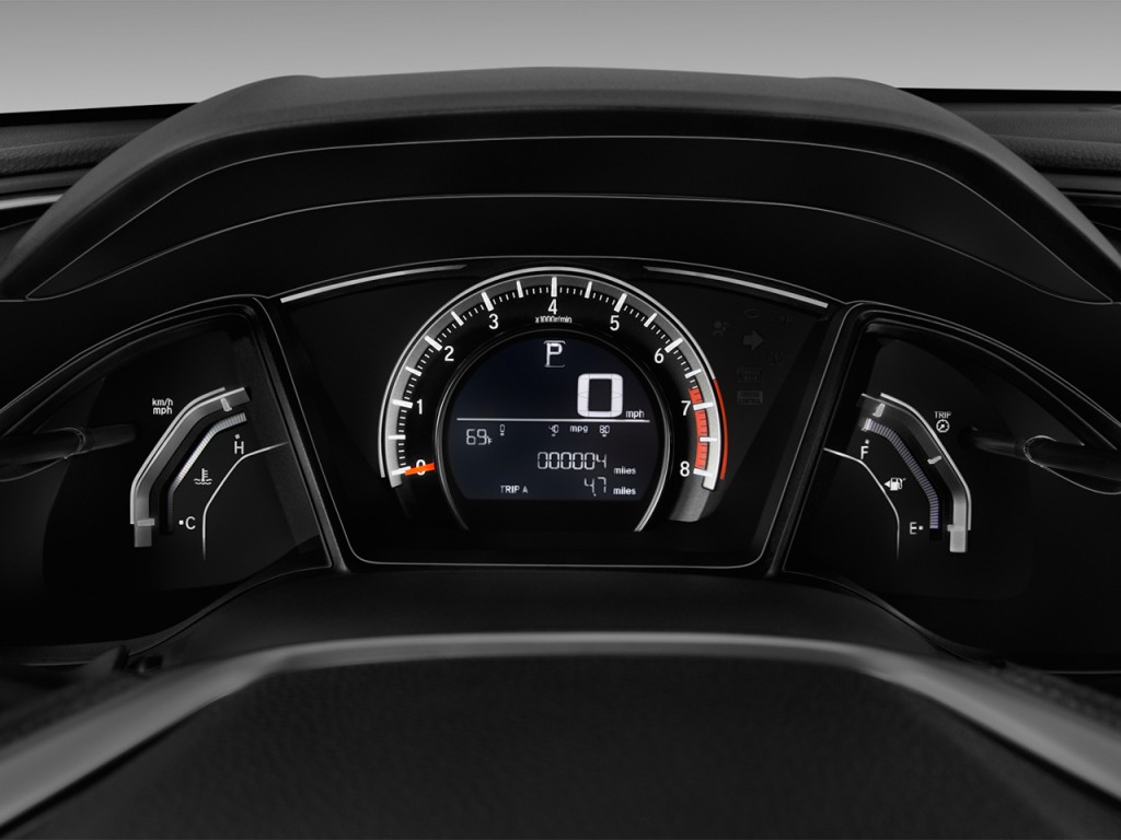 Image: 2016 Honda Civic 4-door CVT LX Instrument Cluster, size: 1024 x 768, type: gif, posted on ...