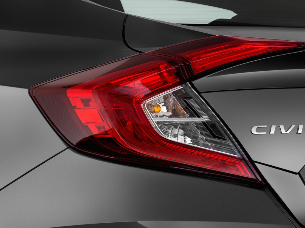 Image: 2016 Honda Civic 4-door CVT LX Tail Light, size ...